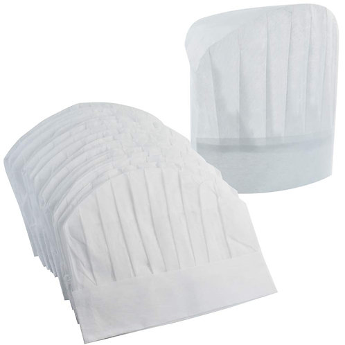 White non-woven Chef Hats for Children- pack of 24