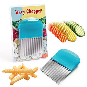 Wavy Chopper - Crinkle Cutter - Cooking with Kids www.CookingwithKids.info