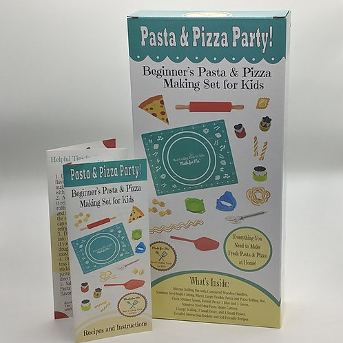Pasta & Pizza Party! - Beginner's Pasta and Pizza Making Set for Kids
