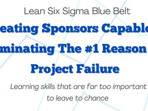 Lean Six Sigma Blue Belt: Creating Sponsors Capable of Eliminating The #1 Reason for Project Failure