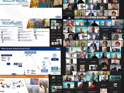 HEAD Aerospace hosts webinar on their Skywalker IoT Constellation services