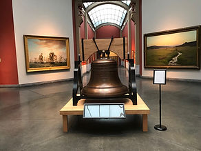 Replica Justice Bell in exhibition at th