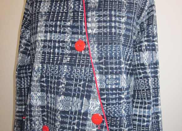 handwovenjacket w/piping and pockets