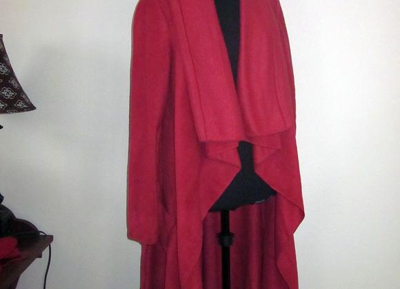 red fleece duster