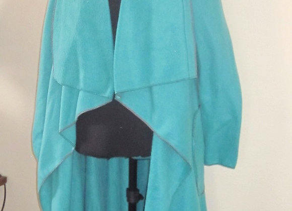 turquoise fleece duster