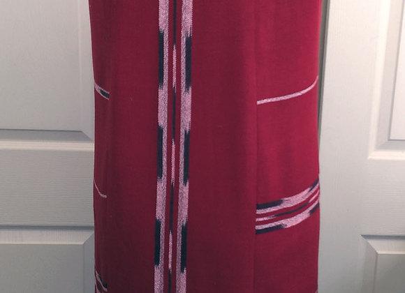 red long vest
