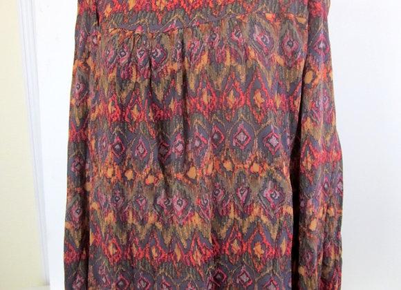 long sleeved ikat tunic