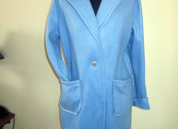 periwinkle fleece coat