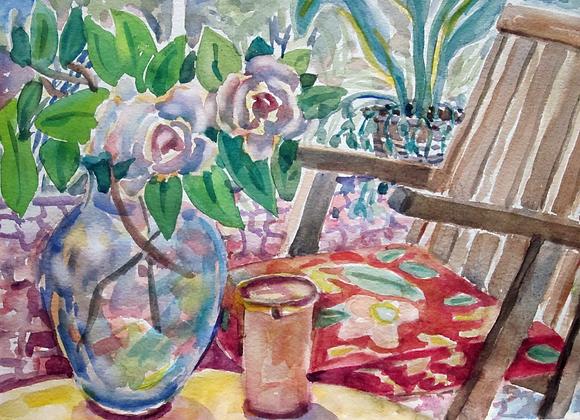 lanai with flowers