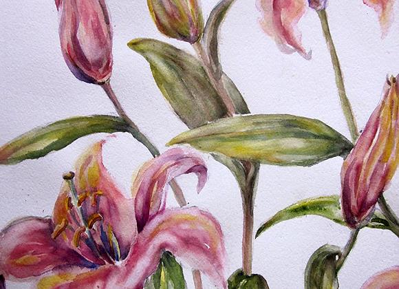 lilies dancing