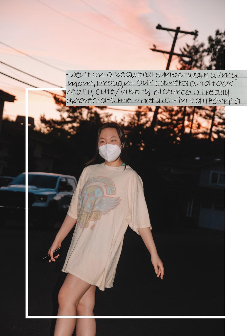 sunset walk, journal excerpt, covid-19, blog, artsy, lightroom, vsco