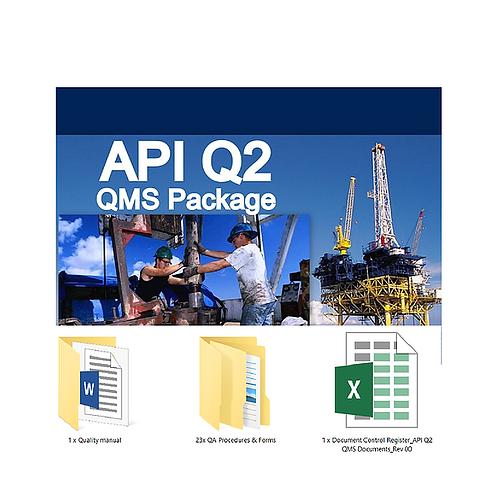API Spec Q2 Quality Management System Documentation Package 1̶2̶0̶0̶ (875 USD)