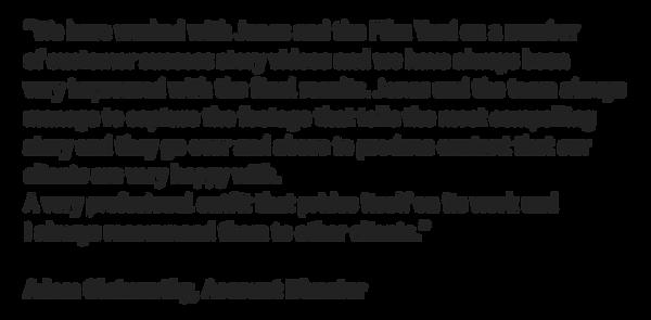 corporate video testemonial 2