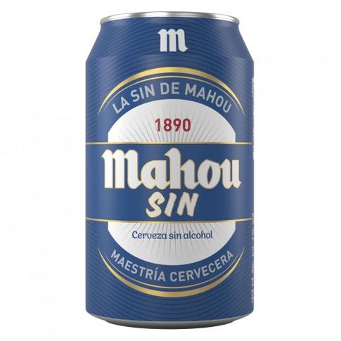 Cerveza Lata Mahou SIN