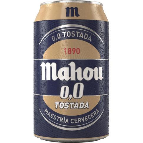 Cerveza Lata Mahou Tostada 0,0