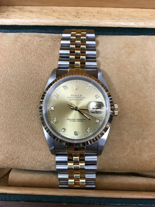 ROLEX(ロレックス) デイトジャスト 16233G 10P旧ダイヤ 自動巻き腕時計 お買取りしました お宝専科豊橋店