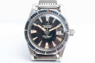TECHNOS(テクノス) スカイダイバー 500m アンティーク ダイバー腕時計 お買取りしました 豊橋市のリサイクルショップならお宝専科豊橋店
