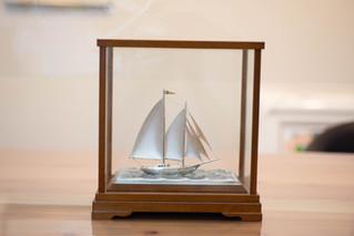 銀製帆船 銀細工置物 Sv985 スターリングシルバー お買取りしました 豊橋市のリサイクルショップならお宝専科豊橋店
