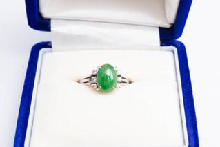 Pt900 翡翠メレダイヤモンドリング お買取りしました 豊橋市のリサイクルショップならお宝専科豊橋店