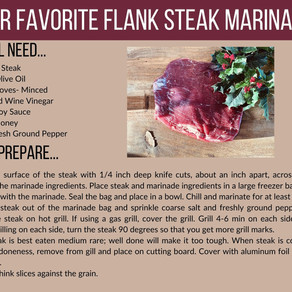 Our Favorite Flank Steak Marinade