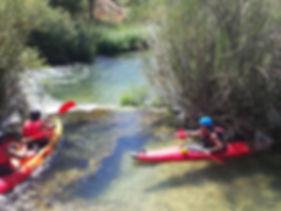 Kayak en Rio Escabas