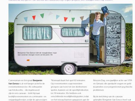 Escaperoom artikel in Provincie West-Vlaanderen Werkt