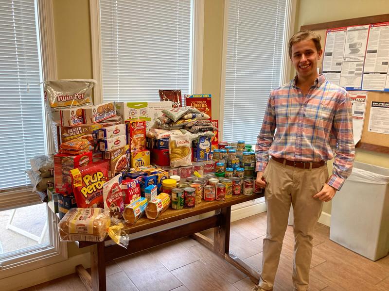 Executive Director Tyler Shrewsbury With Moss Creeks Donations