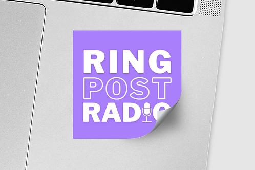 Ring Post Radio Sticker