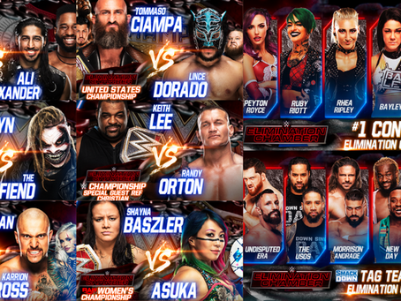Elimination Chamber (2021) PPV Card