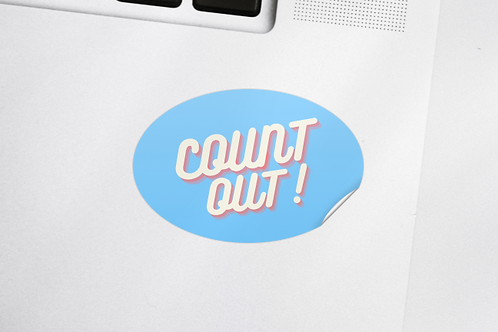 Count Out! Sticker