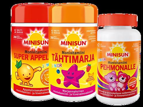 Minisun Monivita Junior 200 tabl tai Pehmonalle 120 kpl