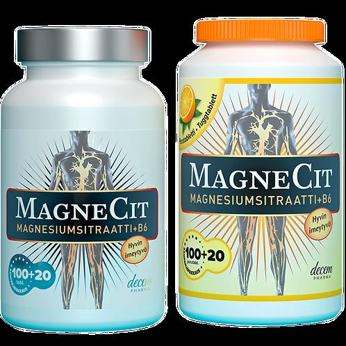Magnecit magnesium tabletti tai purutabletti 100+20