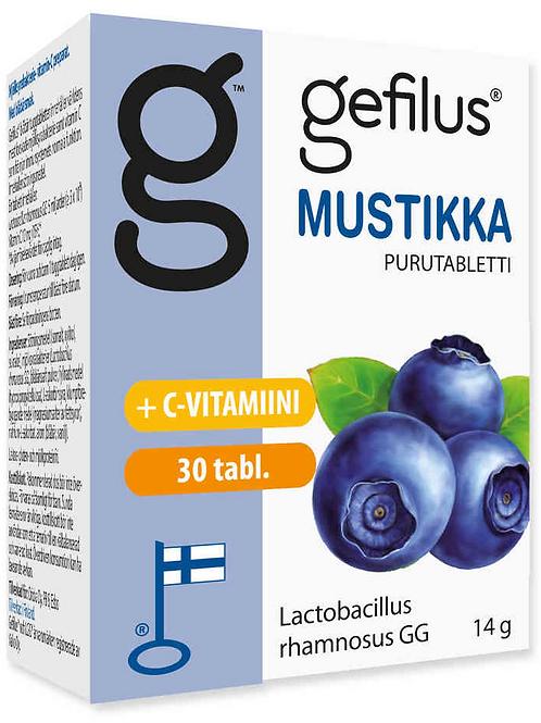 Gefilus mustikka maitohappobakteeri 30 purutabl.