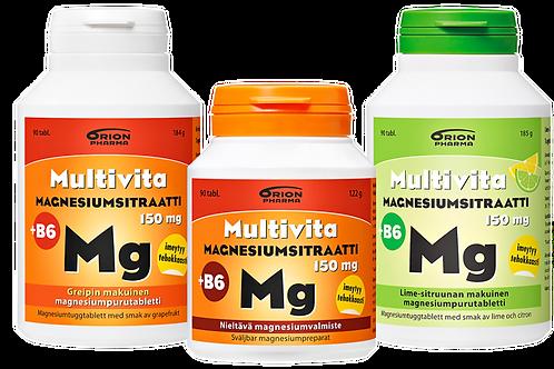 Multivita magnesiumsitraatit 90 kpl