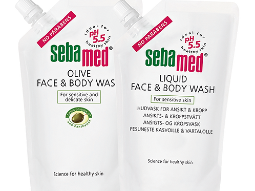 Sebamed face & body Wash täyttöpussi 1000 ml