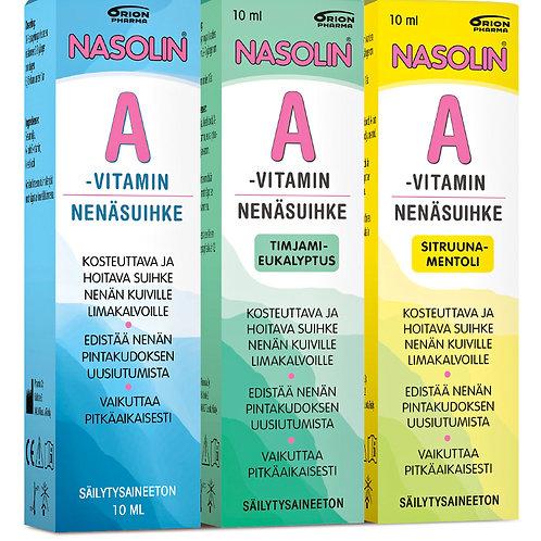 Nasolin A-Vitamiini 10 ml Nenäsuihkeet