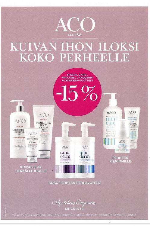 Aco kuivan ihon tuotteet -15 %