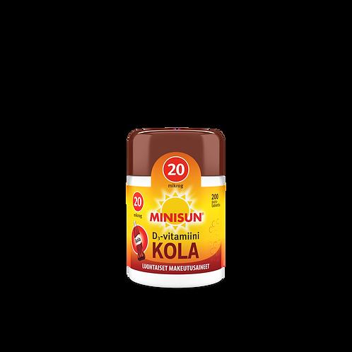 Minisun D-vitamiinit 20ug 200 kpl