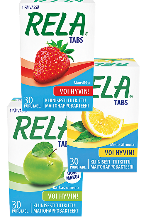Rela tabs maitohappobakteeri 30 tablettia