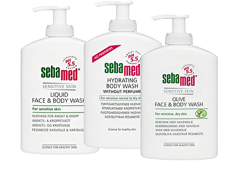 Sebamed Face & Body Wash 300 ml pesuneste