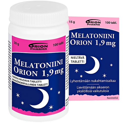 Melatoniini Orion1,9 mg 100 tablettia