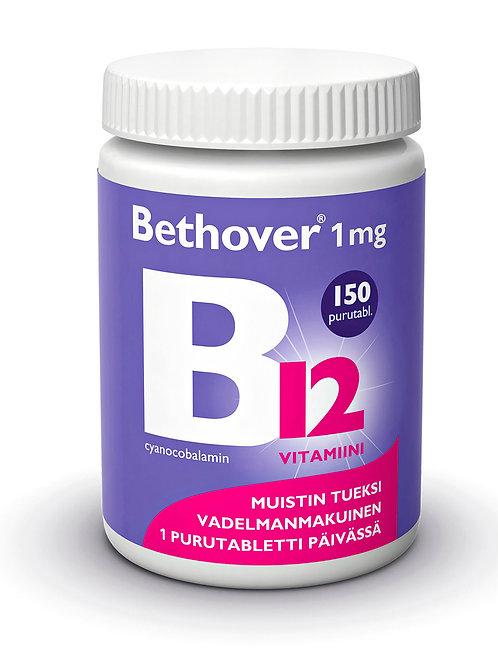 Bethover B12 -vitamiini 1mg 150 purutabl.