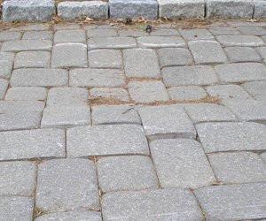 uneven concrete pavers