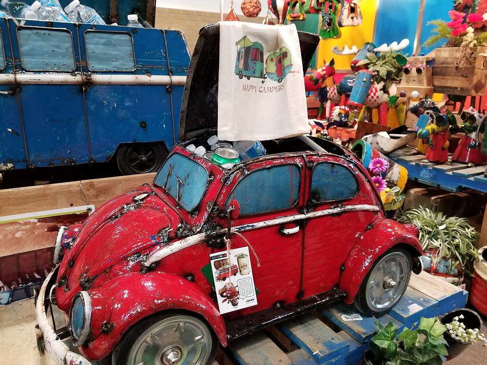 Garden Accent - Iron crafted - Volkwagen Beetle