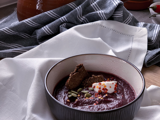 Roasted Purple Carrot Soup