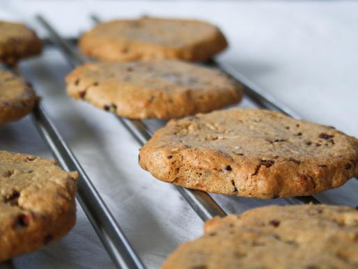 Hazelnut & Choc Chip Cookies (GF, Ve)