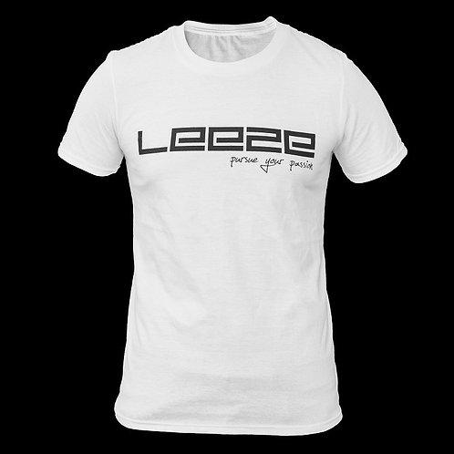T-Shirt mit Leeze Aufdruck - weiß (m/w)