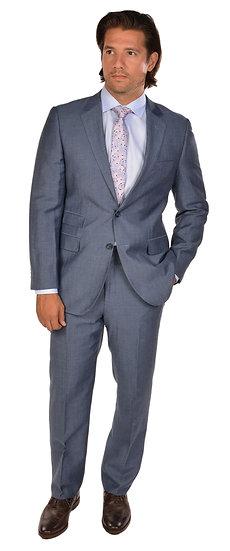 Bresciani Lite Blue Herringbone Suit