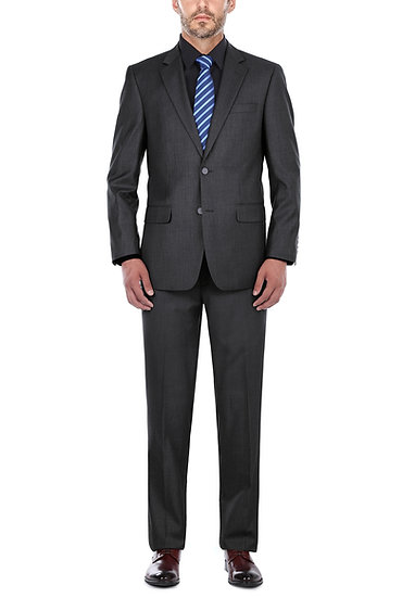 VDP Collection Men's Classic Fit Suit (Black)