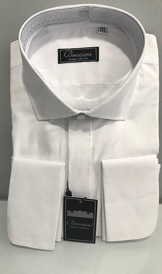 Bresciani Men's Dress Shirt with French Cuffs